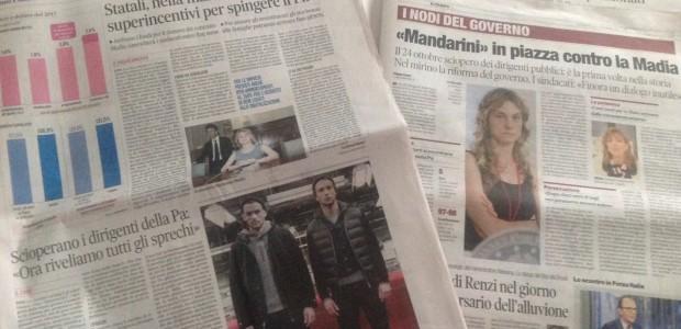 I giornali dicono di noi: rassegna stampa su stato di agitazione e sciopero dirigenti